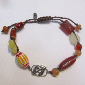 Silpada adjustable bracelet B2452 Happy Saturday